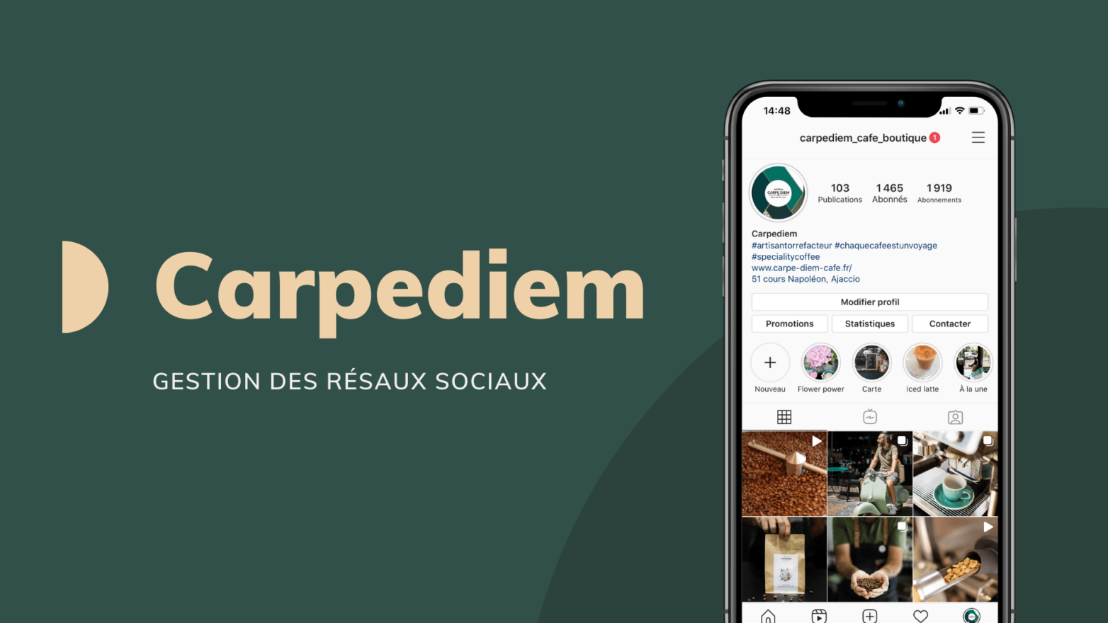 Gestion des réseaux sociaux Carpediem Ajaccio